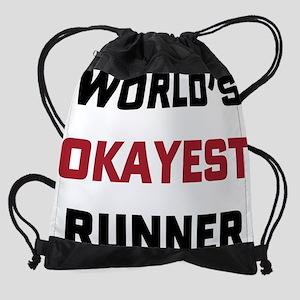 World's Okayest Runner Drawstring Bag