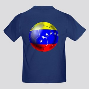 Venezuela Soccer Kids Dark T-Shirt