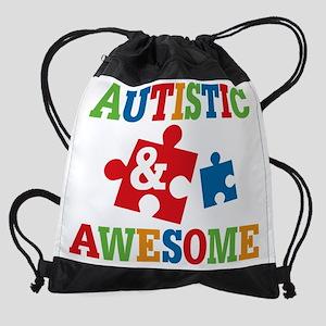 Autistic Awesome Drawstring Bag