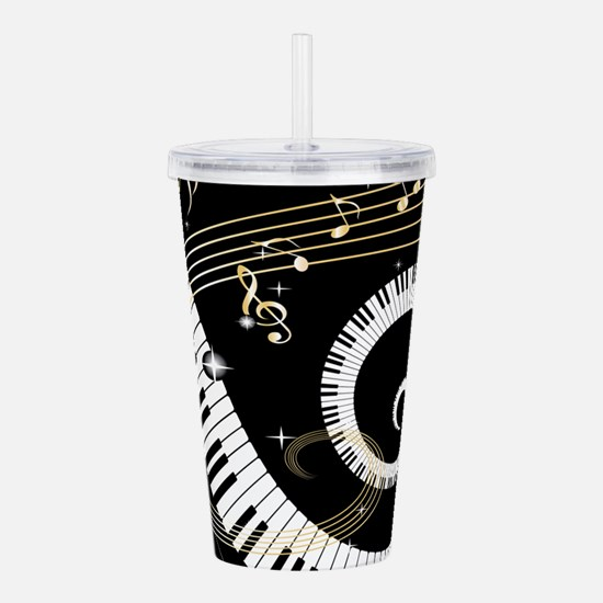 Piano and musical note Acrylic Double-wall Tumbler