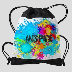 INSPIRE Good Vibes Splash Drawstring Bag