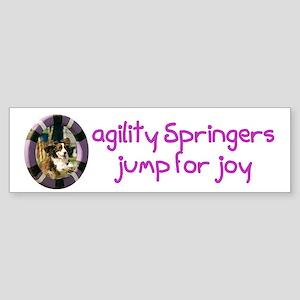 Agility Jump for Joy Bumper Sticker