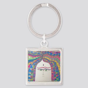 My Spirit Grows Square Keychain