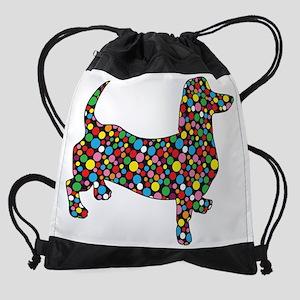 Polka Dot Doxie Drawstring Bag