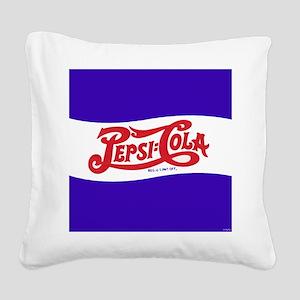 Pepsi Logo Square Canvas Pillow