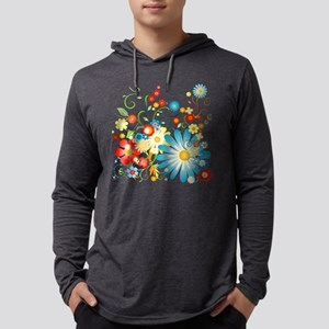 Colorful explosion of flowers Mens Hooded Shirt