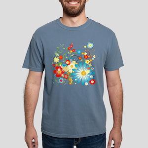 Colorful explosion of fl Mens Comfort Colors Shirt