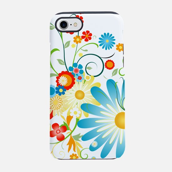 Colorful explosion of flowers iPhone 7 Tough Case