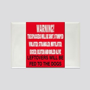 Trespasser Warning Rectangle Magnet