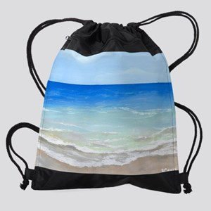 Calm Beach Drawstring Bag