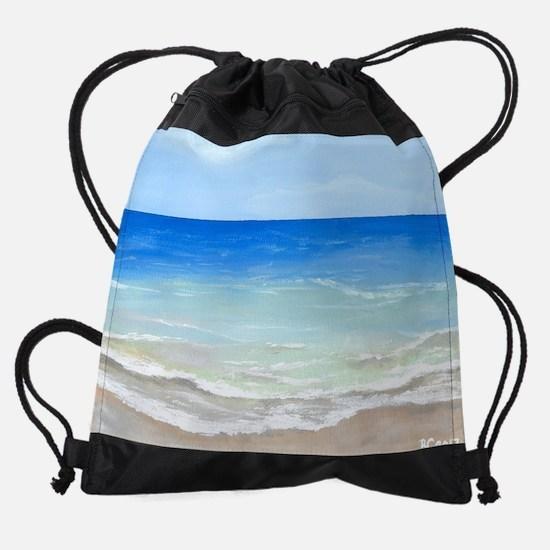 Calm Beach Drawstring Bag