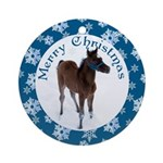 Arab Foal Christmas Ornament (Round)