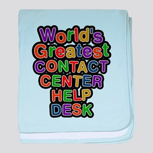 Worlds Greatest CONTACT CENTER HELP DESK baby blan