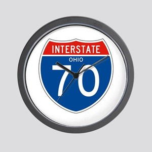 Interstate 70 - OH Wall Clock