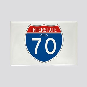 Interstate 70 - OH Rectangle Magnet