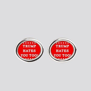 Trump Hates You Too Oval Cufflinks