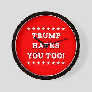 Trump Hates You Too Wall Clock