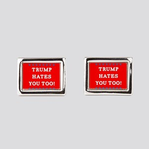 Trump Hates You Too Rectangular Cufflinks