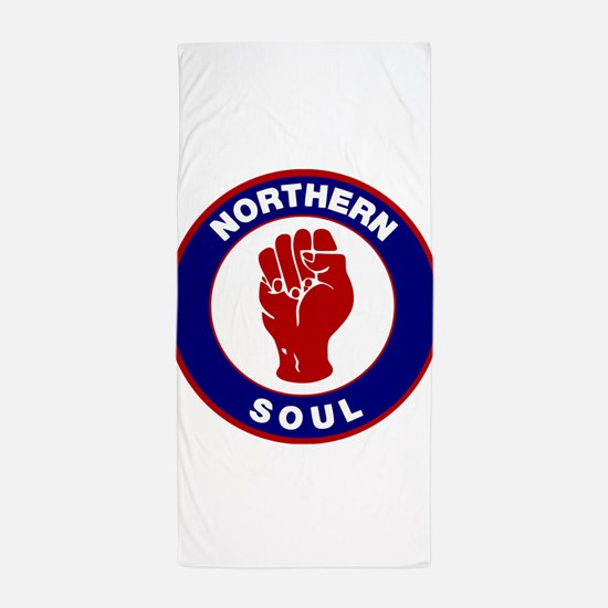 Northern Soul Retro Beach Towel