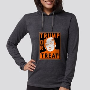 Trump or Treat Womens Hooded Shirt