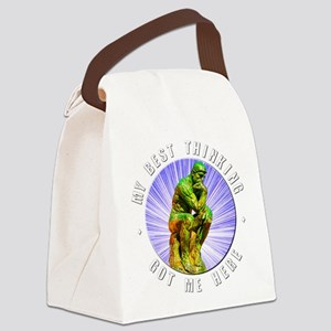 """Best Thinking"" Canvas Lunch Bag"