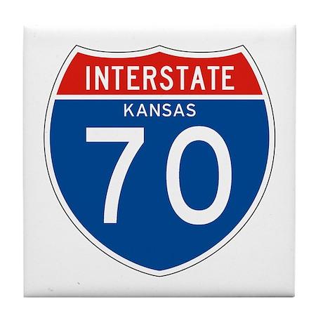 Interstate 70 - KS Tile Coaster