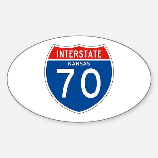 Interstate 70 - KS Oval Decal