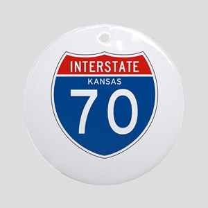 Interstate 70 - KS Ornament (Round)
