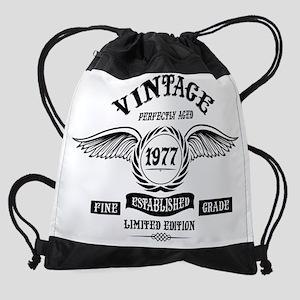 Vintage Perfectly Aged 1977 Drawstring Bag