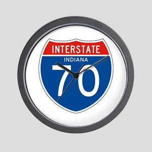 Interstate 70 - IN Wall Clock