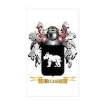 Benjamini Sticker (Rectangle 50 pk)