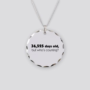 100th Birthday Necklace Circle Charm