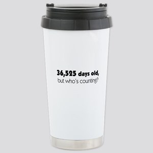 100th Birthday Stainless Steel Travel Mug