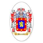 Benetelli Sticker (Oval 50 pk)