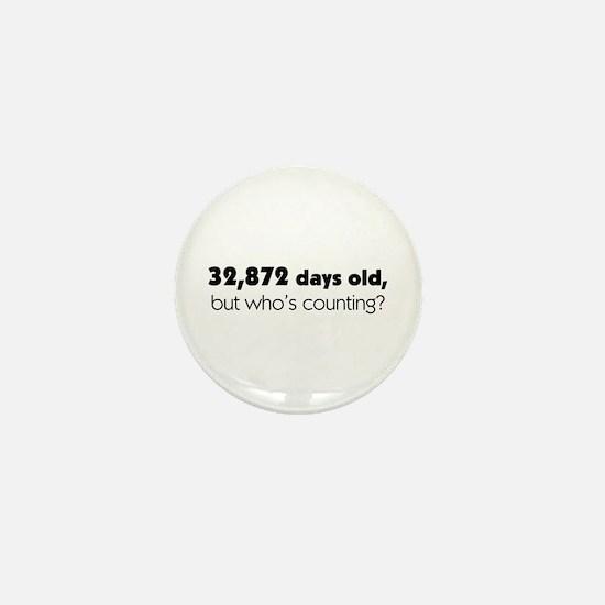 90th Birthday Mini Button