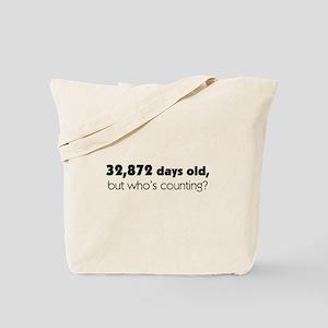 90th Birthday Tote Bag