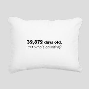 90th Birthday Rectangular Canvas Pillow