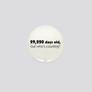 80th Birthday Mini Button