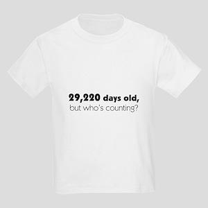 80th Birthday Kids Light T Shirt