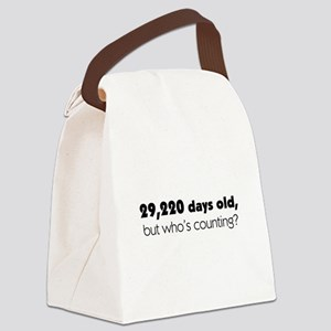80th Birthday Canvas Lunch Bag