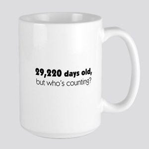 80th Birthday Large Mug
