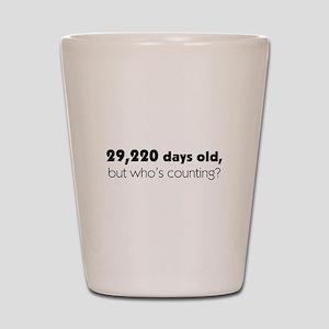 80th Birthday Shot Glass