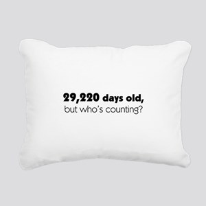 80th Birthday Rectangular Canvas Pillow