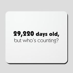 80th Birthday Mousepad