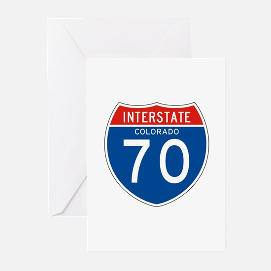 Interstate 70 - CO Greeting Cards (Pk of 10)