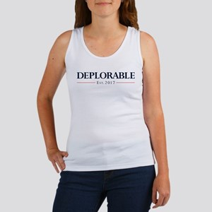 Deplorable Est 2017 Women's Tank Top