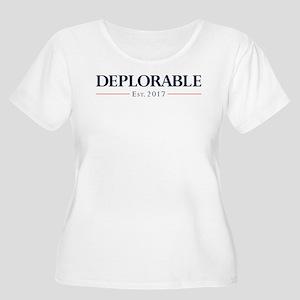 Deplorable Es Women's Plus Size Scoop Neck T-Shirt