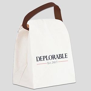 Deplorable Est 2017 Canvas Lunch Bag