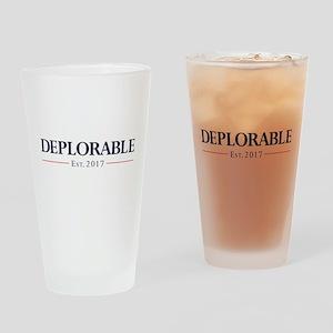 Deplorable Est 2017 Drinking Glass