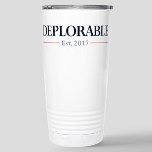 Deplorable Est 20 16 oz Stainless Steel Travel Mug
